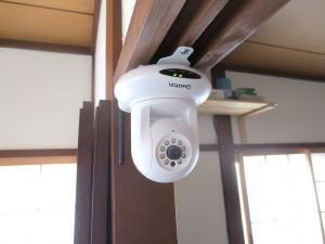 Webネットワークカメラの設置状況。