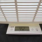 ロシ子の体重を測る計量器。
