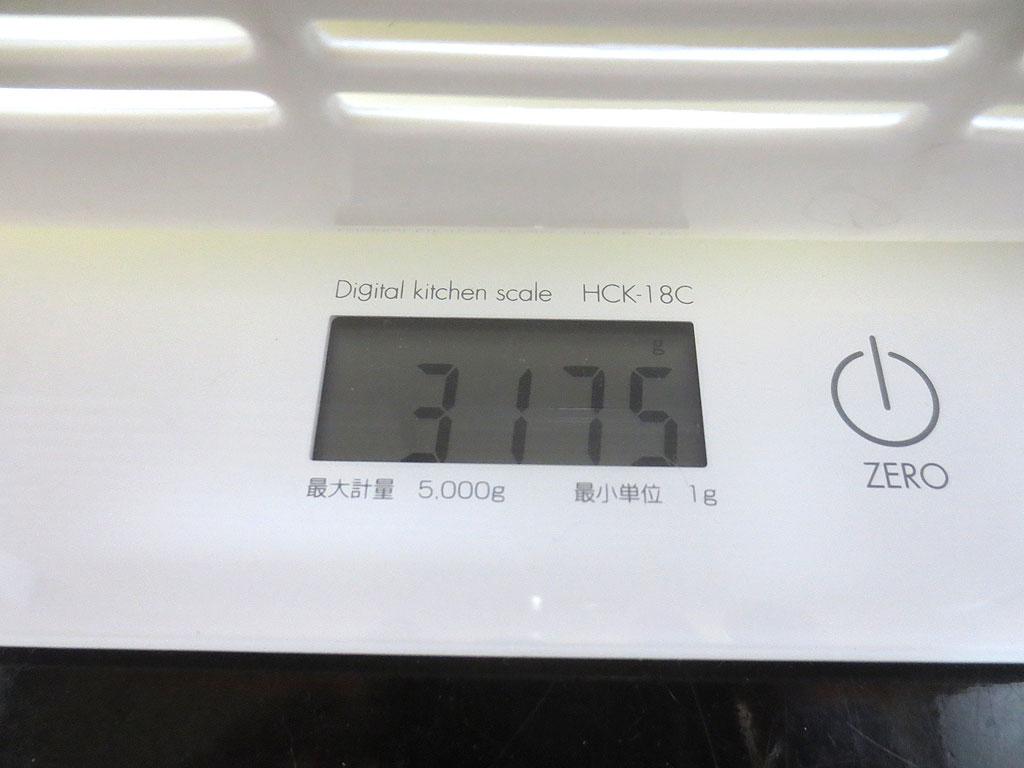 ロシ子の体重は3,175gでした。