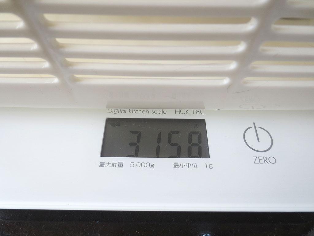 ロシ子の体重は3158gです。