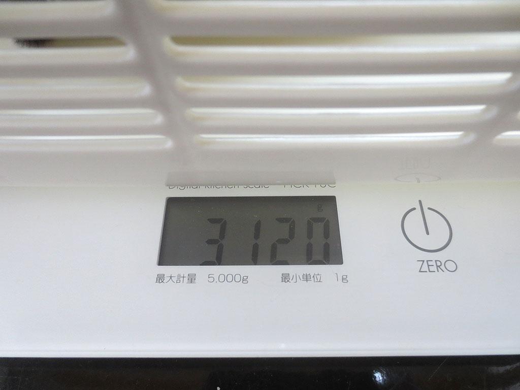 ロシ子の体重、3,120gでした。