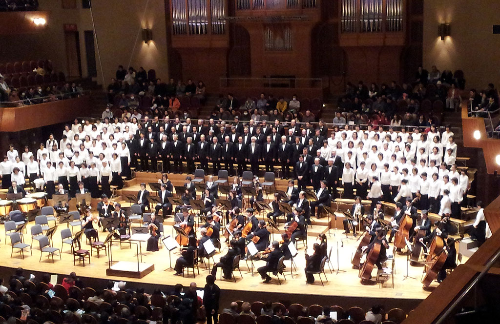 ベートーベンの第9のコンサート。