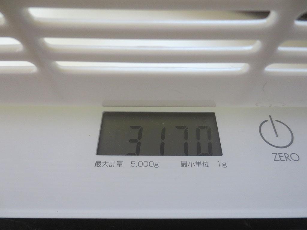ロシ子の体重は3170gです。