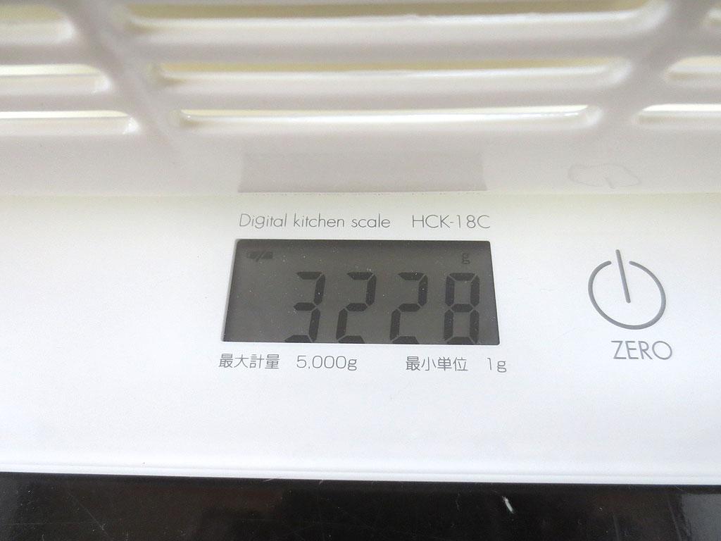 今日の体重は3228gでした。