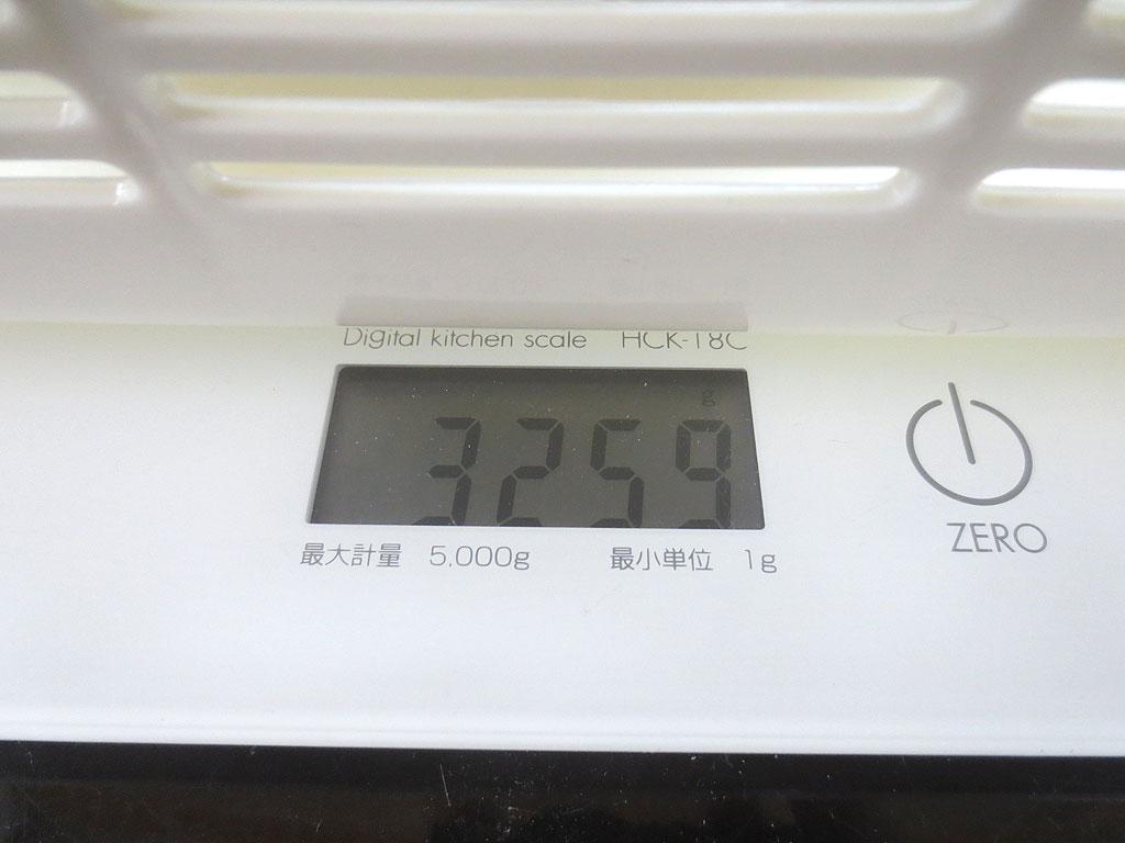 ロシ子の体重は3,259gでした。