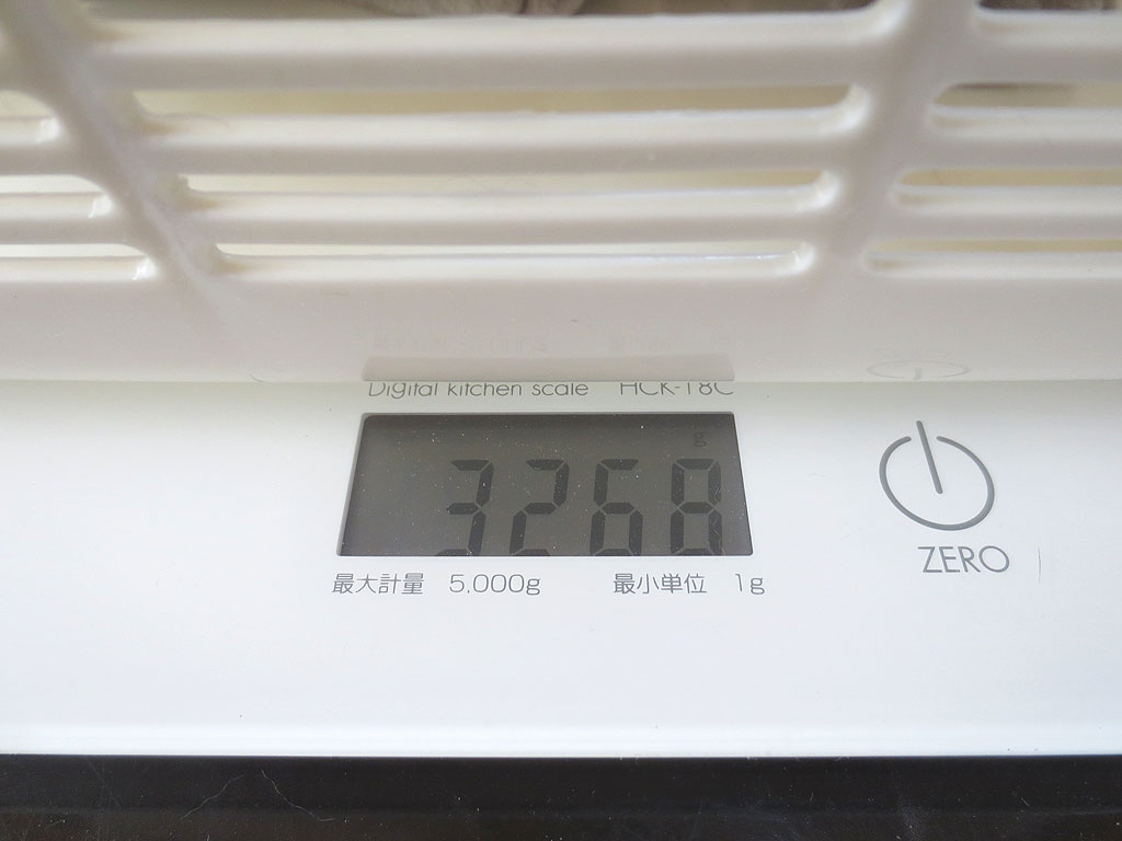 ロシ子の体重は3,268gでした。