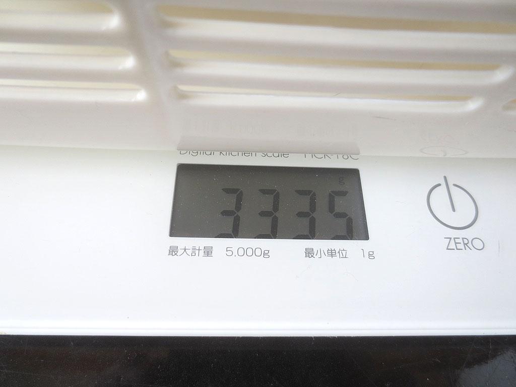 ロシ子の体重は3335gでした。
