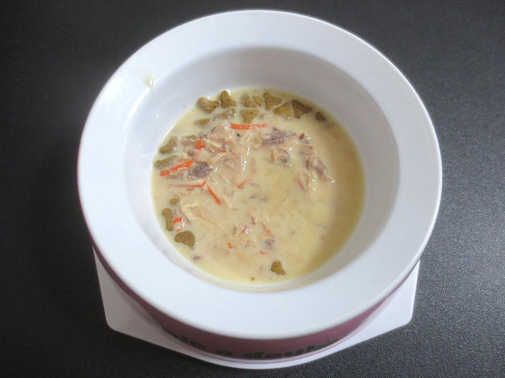 クリーミー仕立てのスープ。