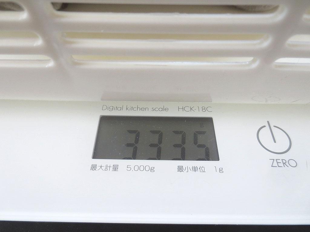 ロシ子の体重は3,335gでした。