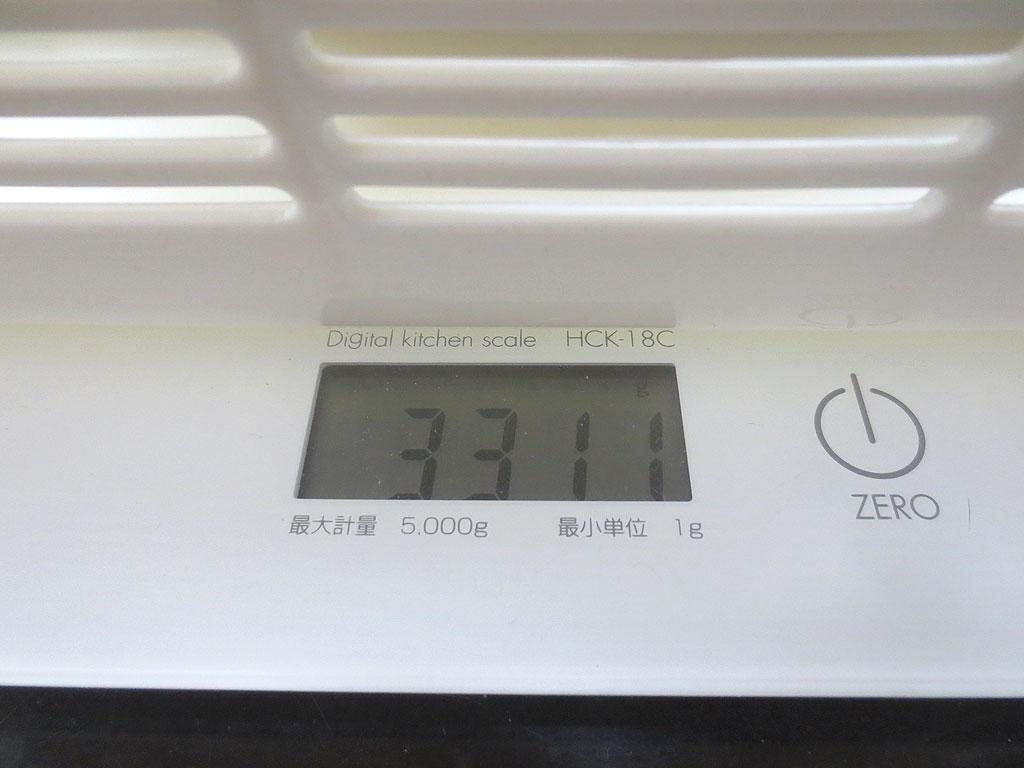 今日のロシ子の体重は3311gです。
