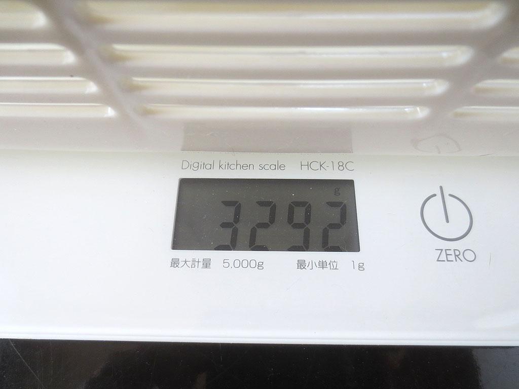 ロシ子の体重は3,292g。