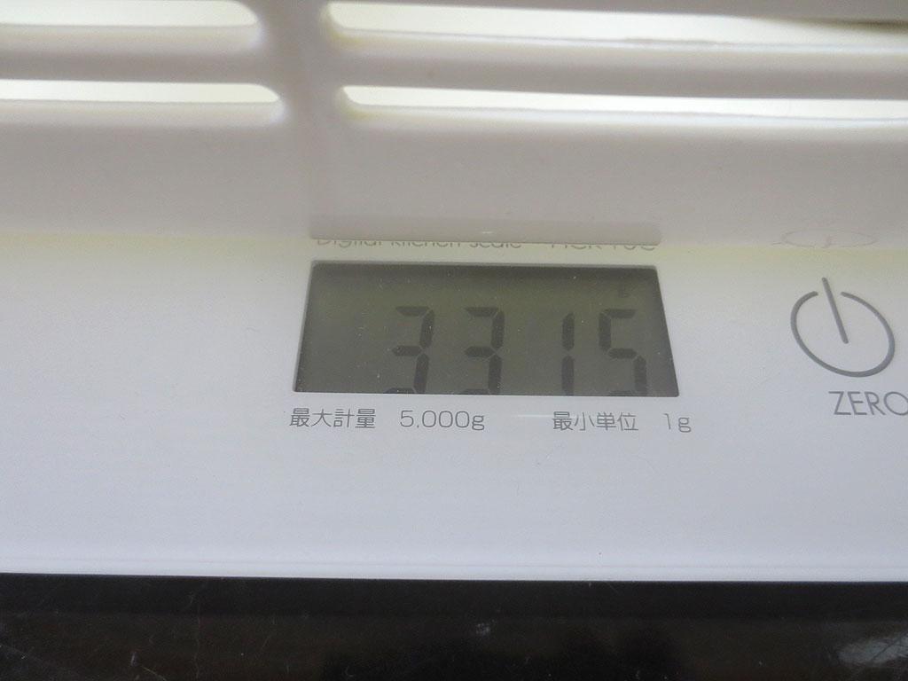 ロシ子の体重は3,315gでした。