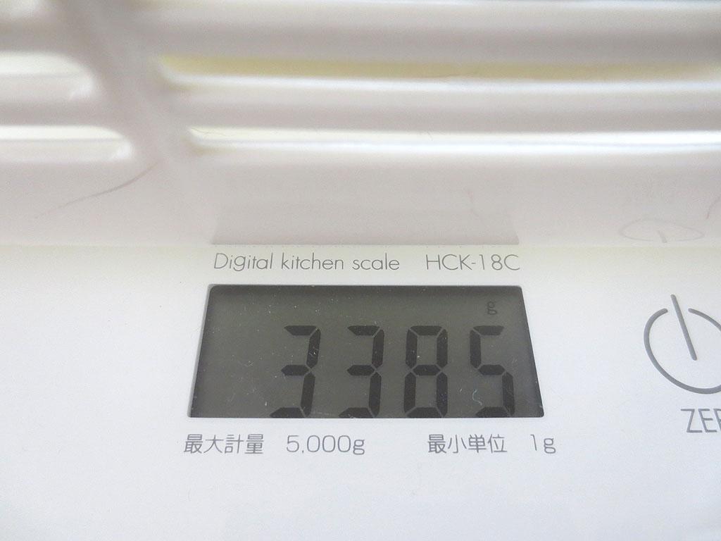 ロシ子の体重は3,385gでした。