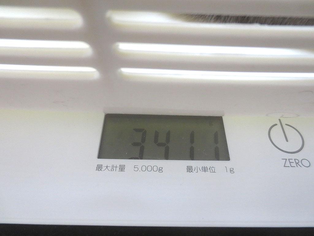 ロシ子の体重は3411gです。