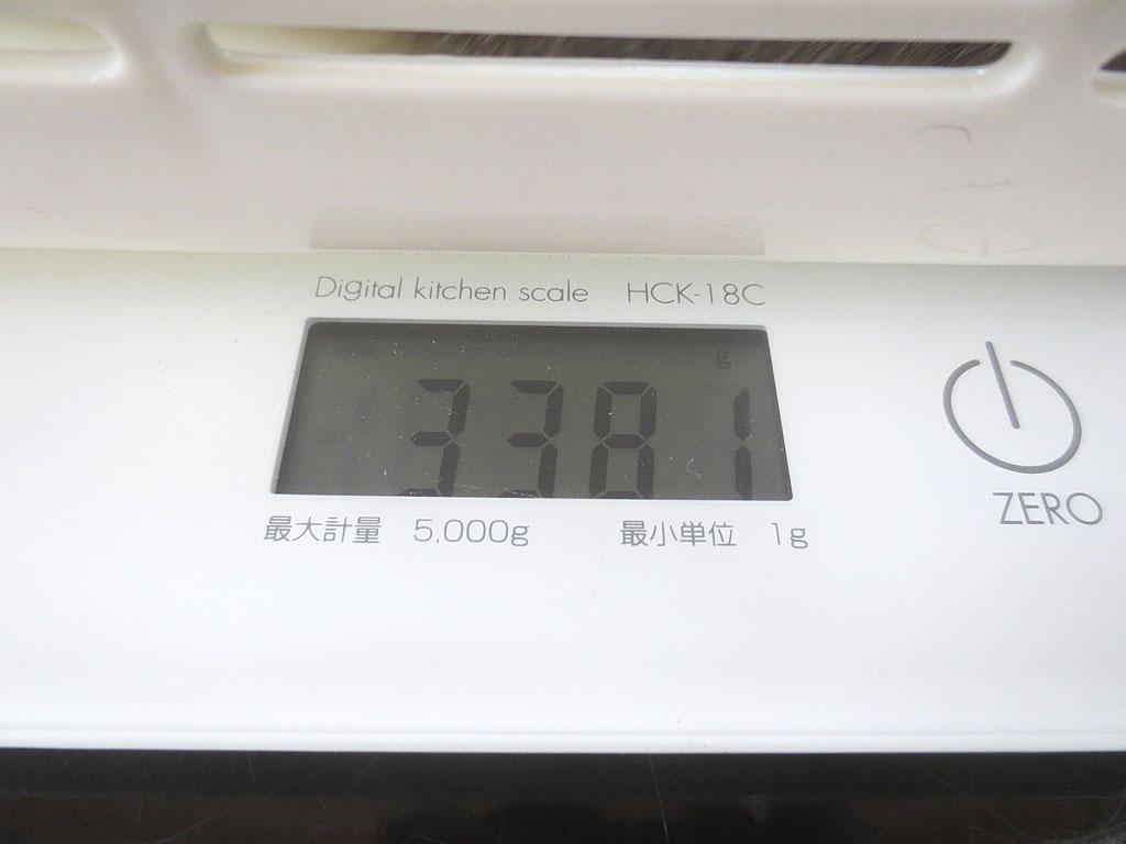 ロシ子の体重は3,381gでした。