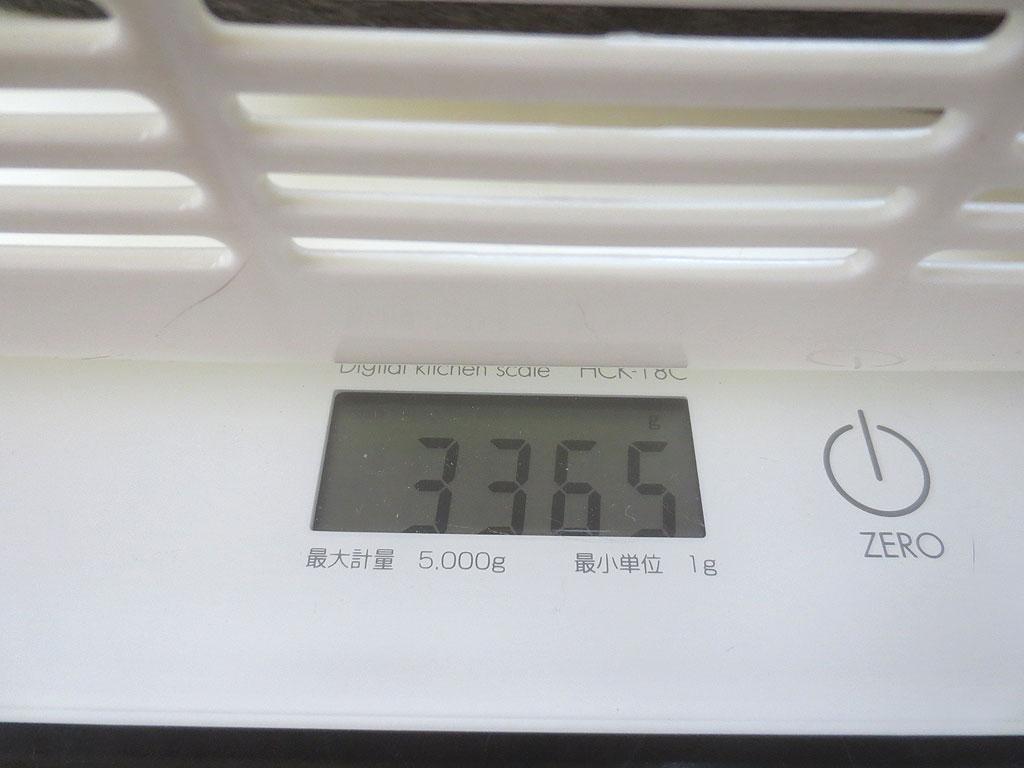 ロシ子の体重は3,365gでした。