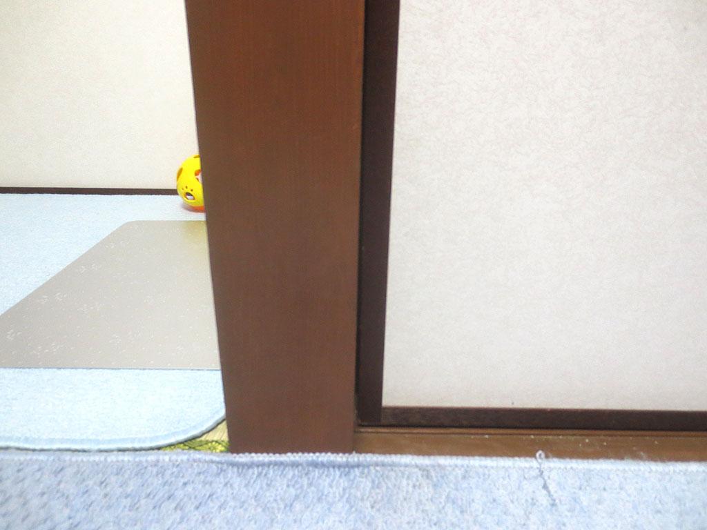 建付けの悪い部屋の戸ですが...。