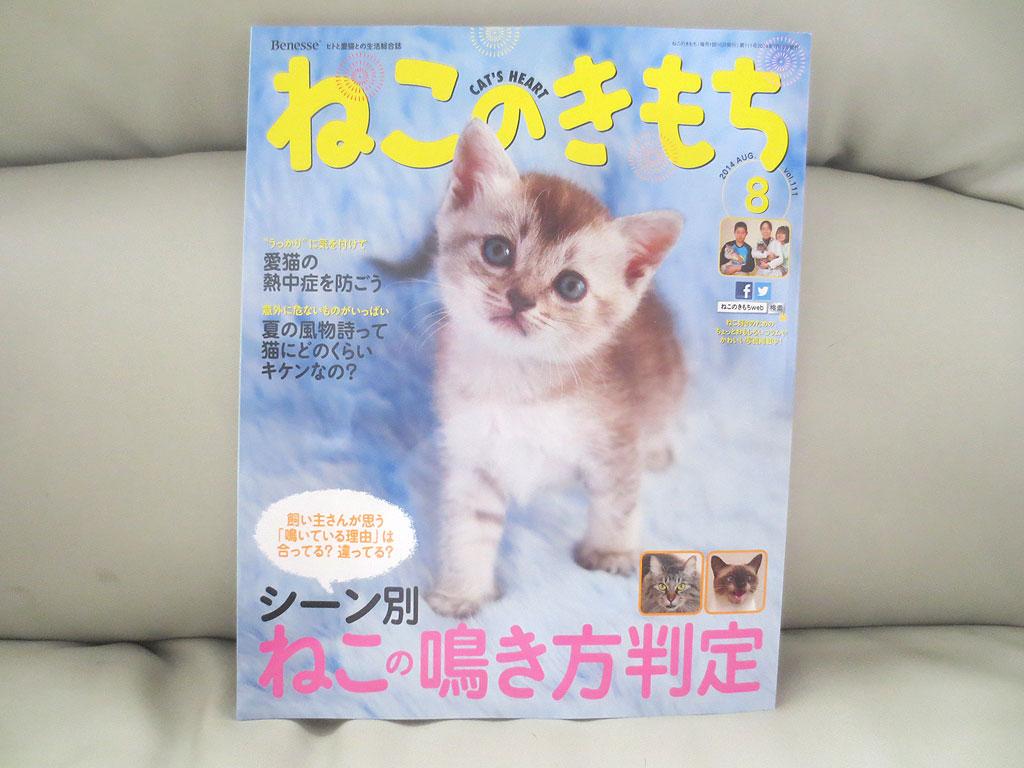 「ねこのきもち」雑誌です。