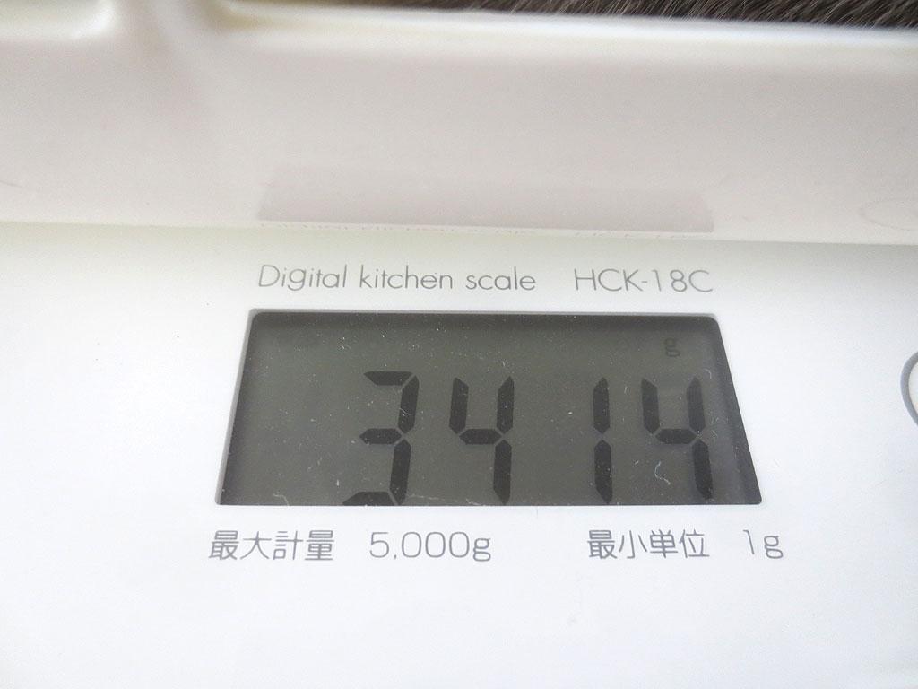 ロシ子の体重が増えています。