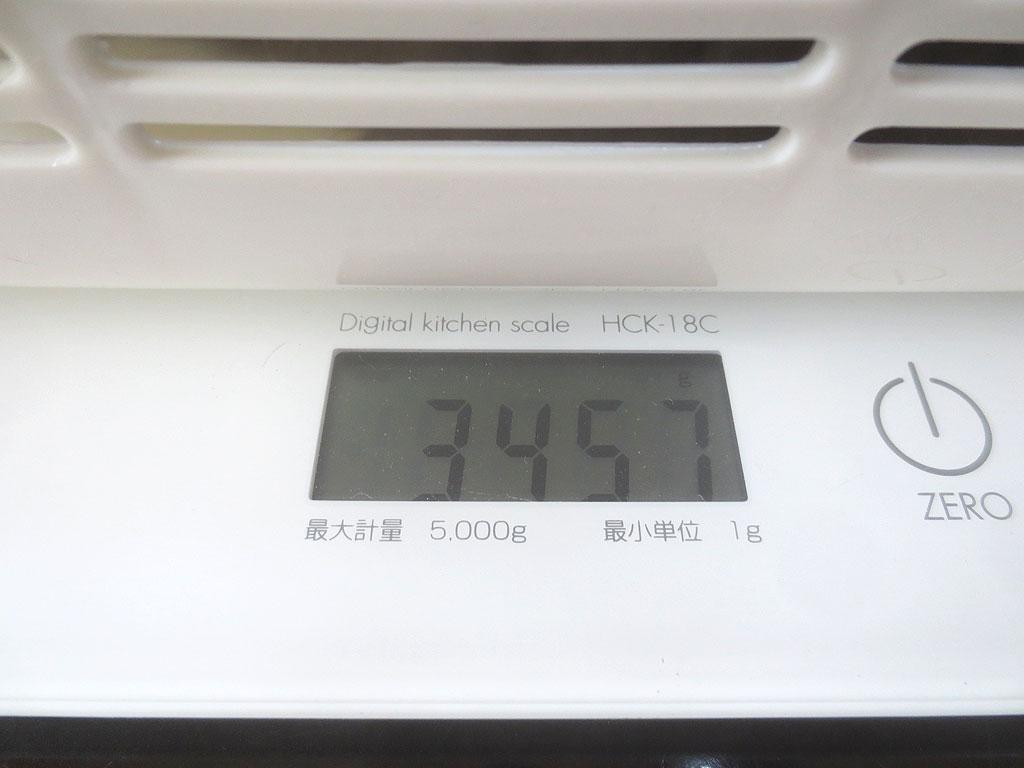 ロシ子の体重は3,457gでした。