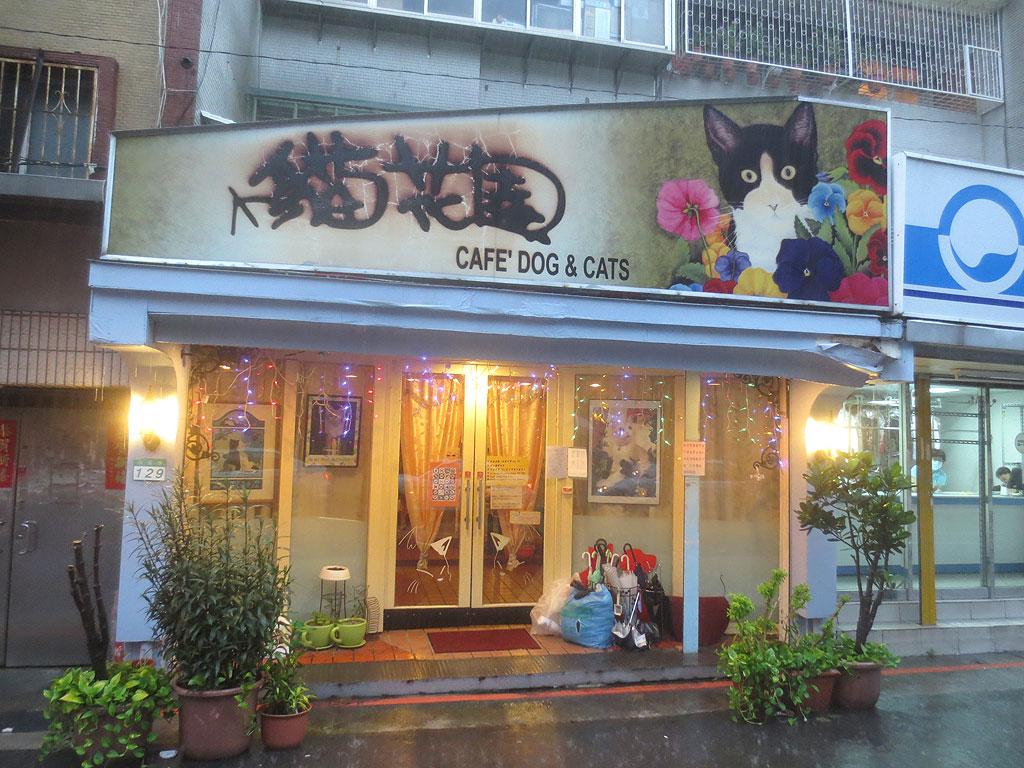 台湾の猫カフェ「猫花園」。