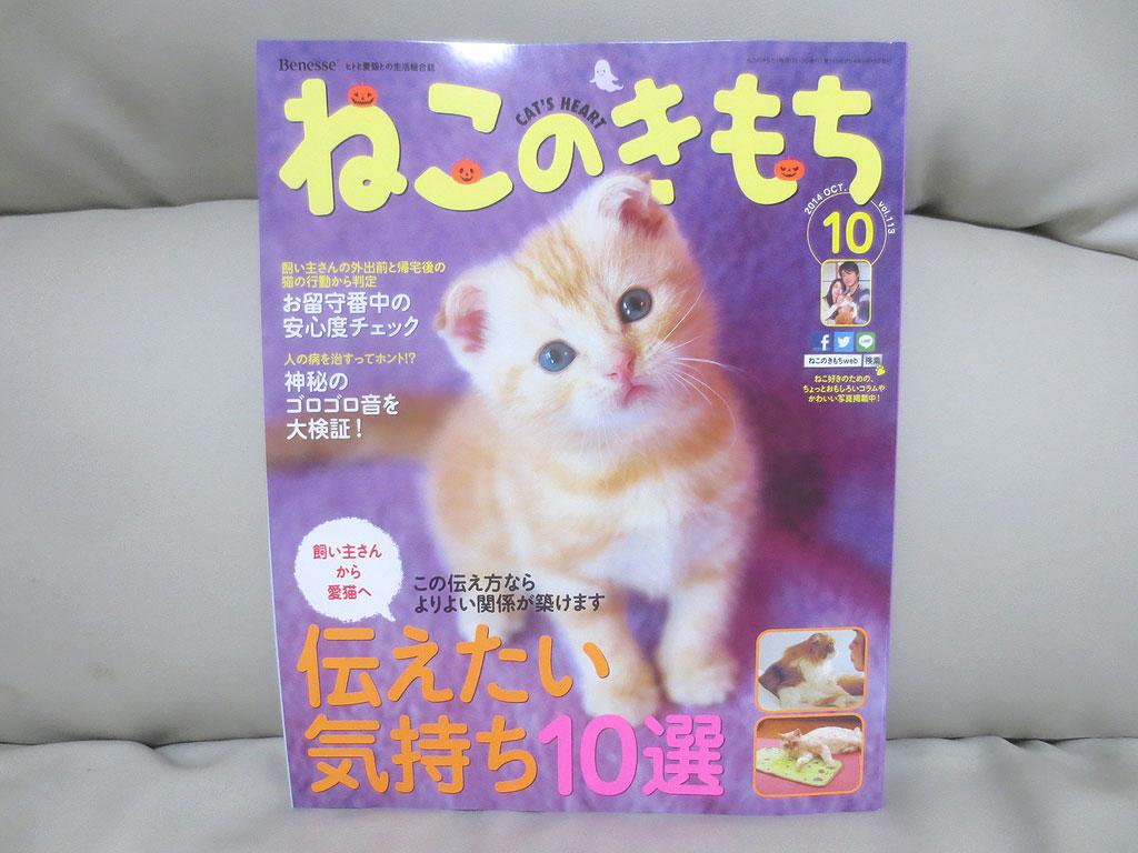 雑誌「ねこのきもち」10月号。