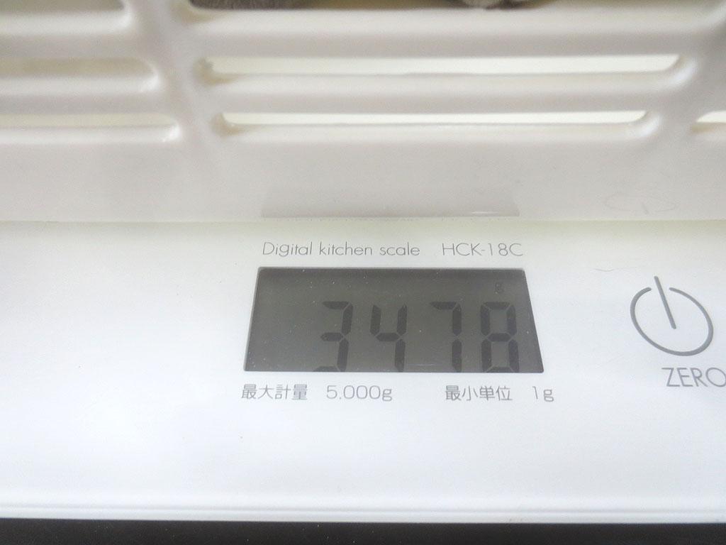 ロシ子の体重は3,478gでした。