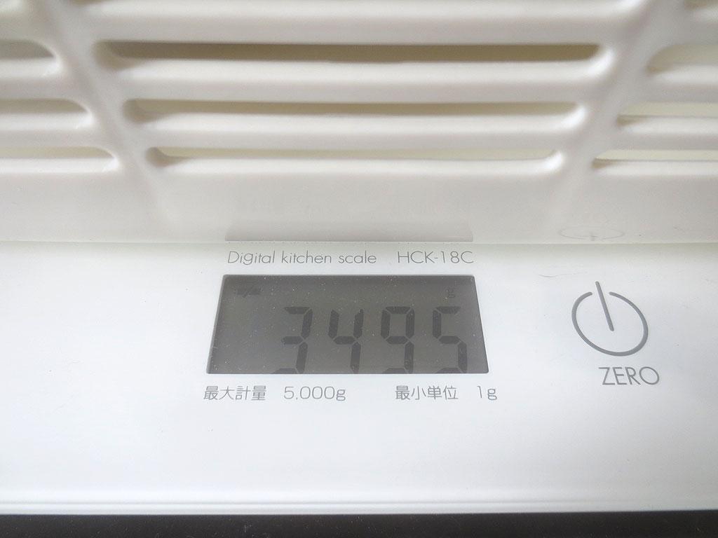 ロシ子の体重は3,495gでした。