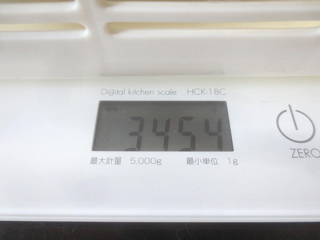 ロシ子の体重は3,454gでした。