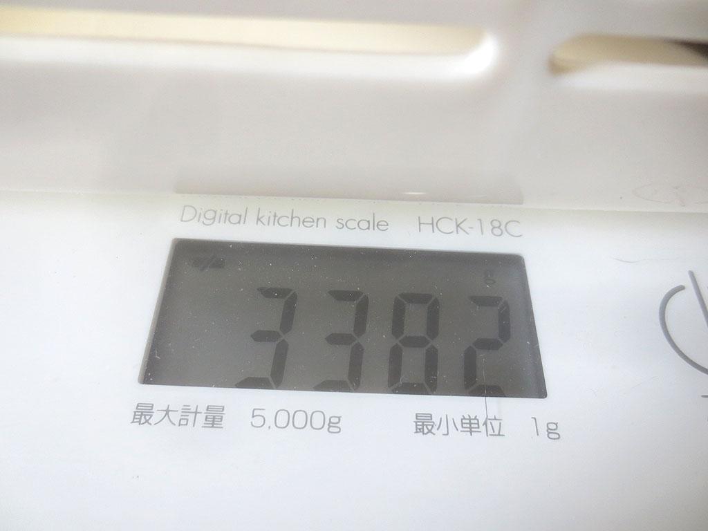 ロシ子の体重は3,382gでした。