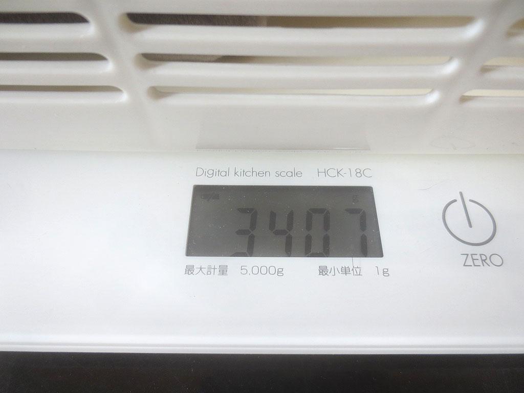 ロシ子の体重は3,407gでした。