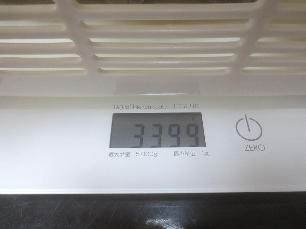 ロシ子の体重は3,399gでした。