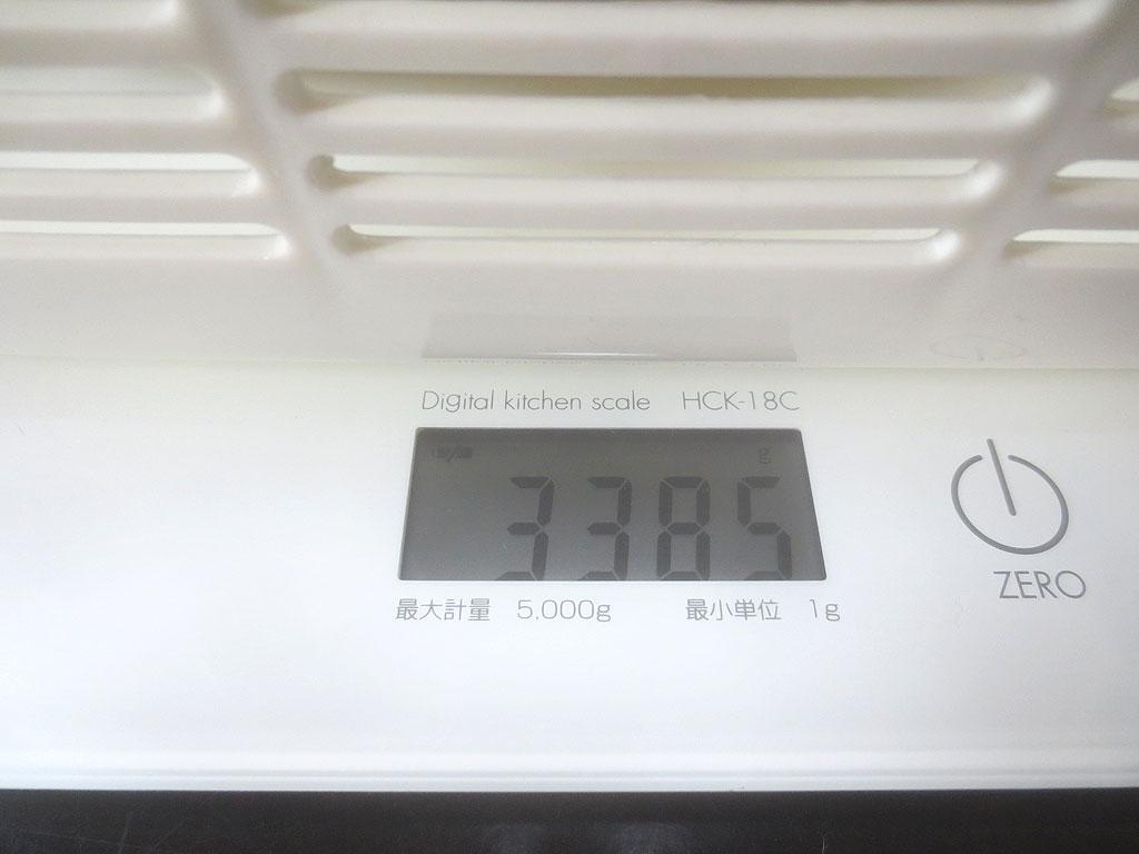 ロシ子の体重は、3,385gでした。