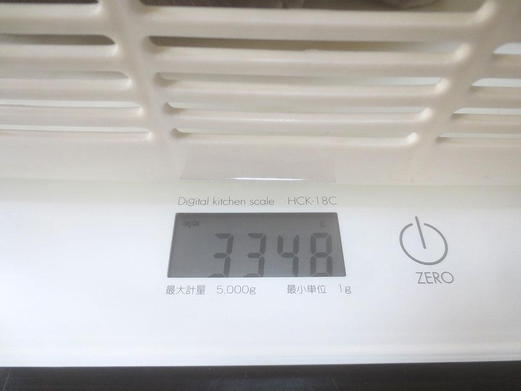 ロシ子の体重は3,348gでした。