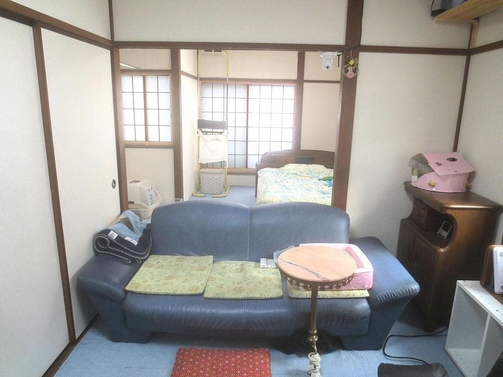 部屋の襖も撤去しました。