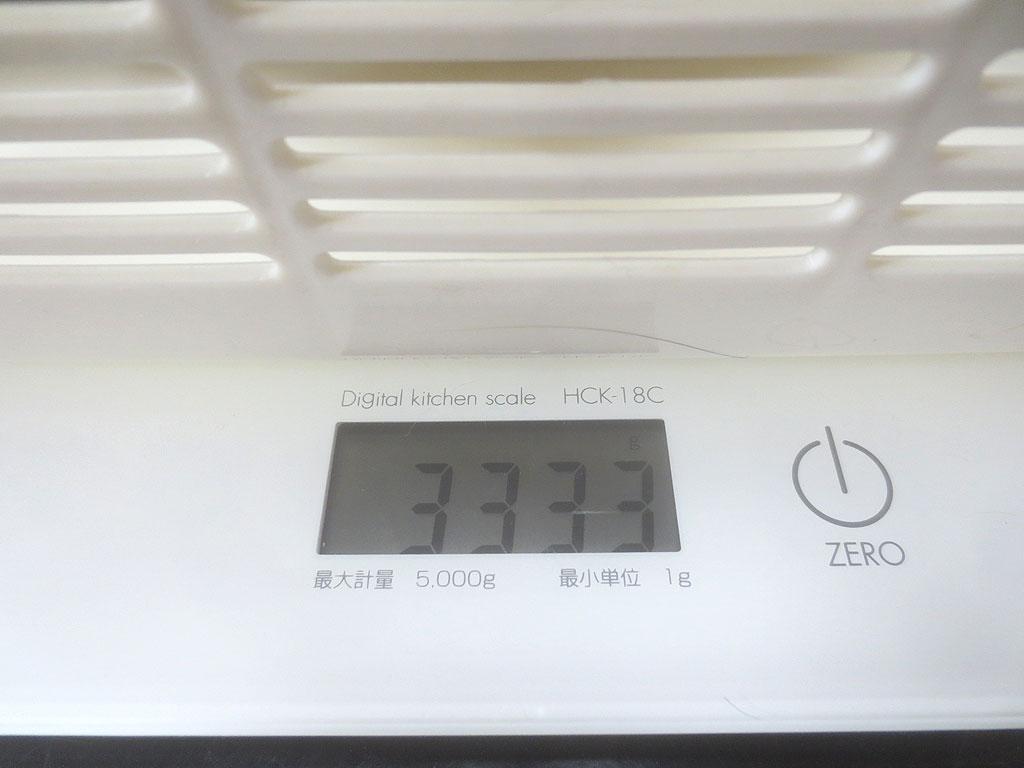 ロシ子の体重は3,333gでした。