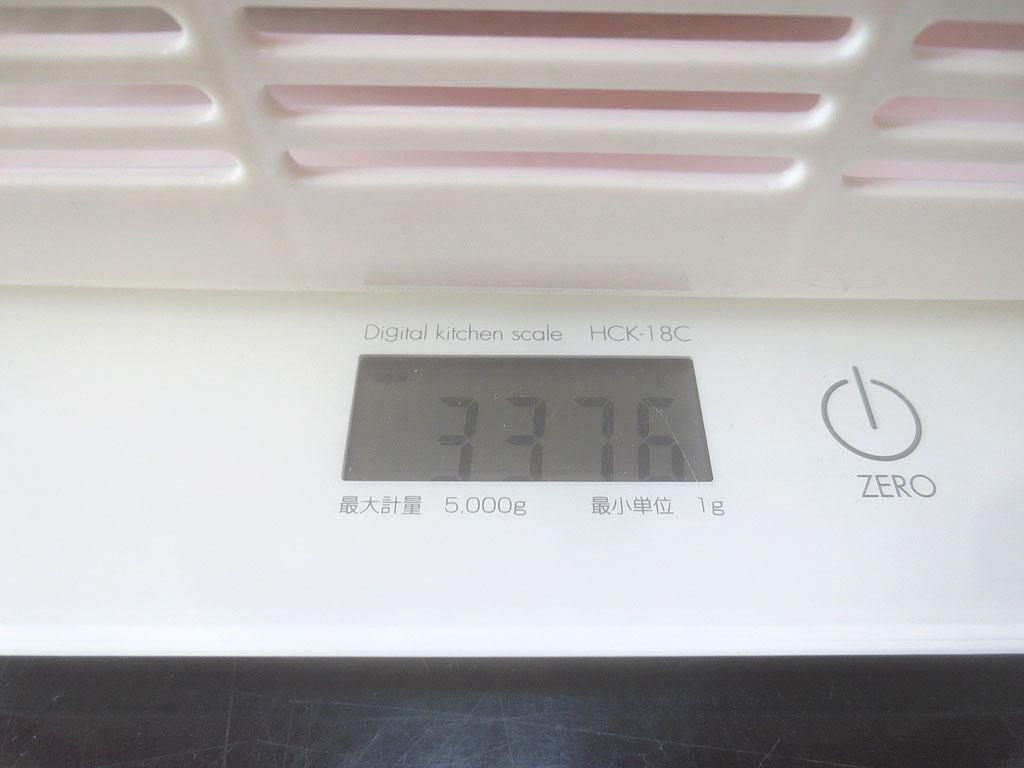 ロシ子の体重は3,376gでした。