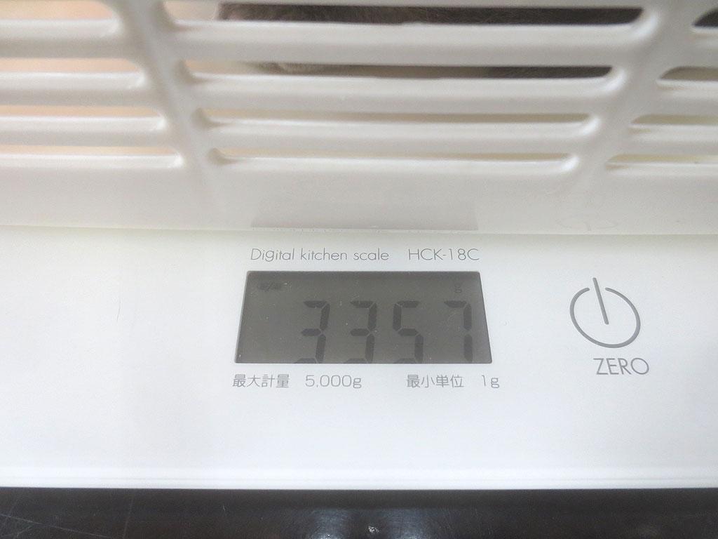 ロシ子の体重は3,357gでした。