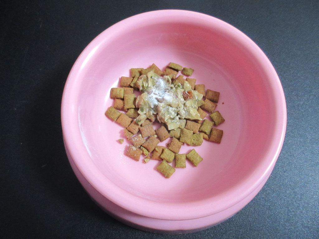ロシ子の今朝のスペシャル朝ご飯です。