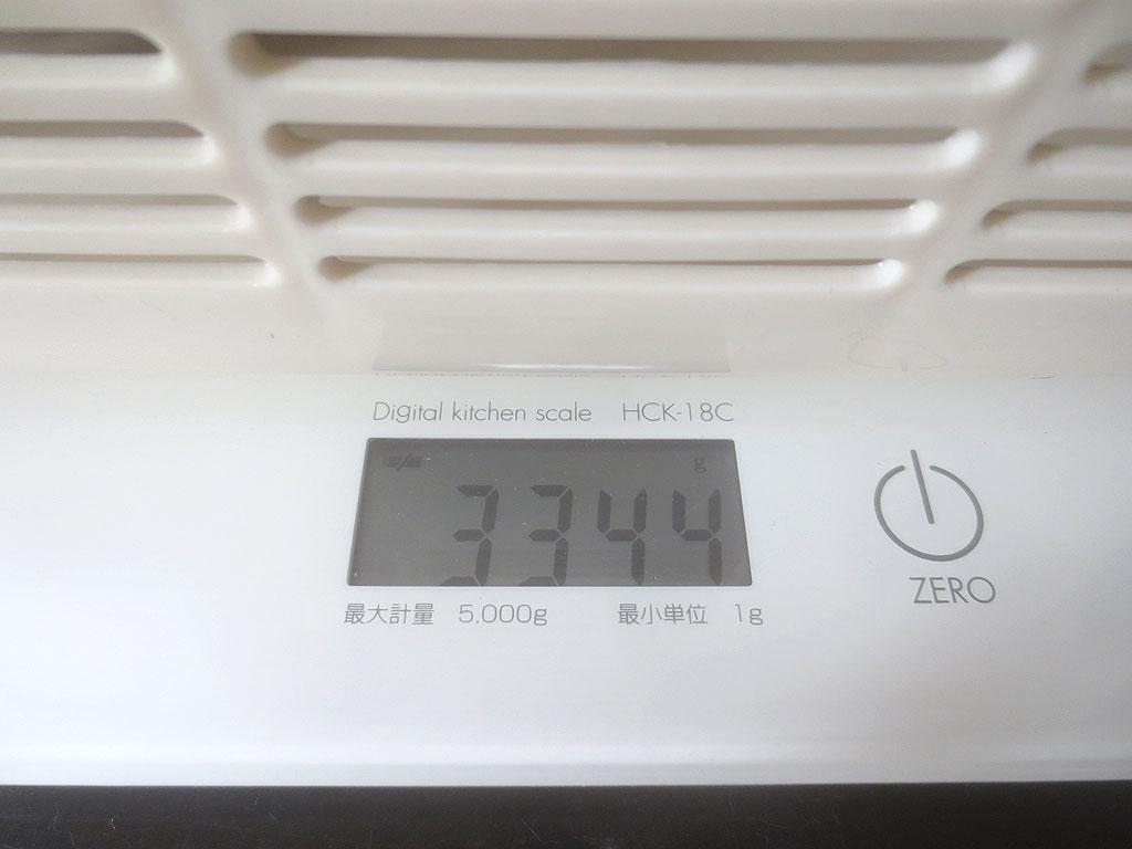 ロシ子の体重は3,344gでした。