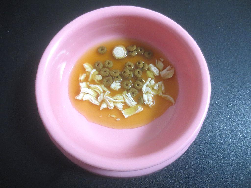 ロシ子の特別晩ご飯です。