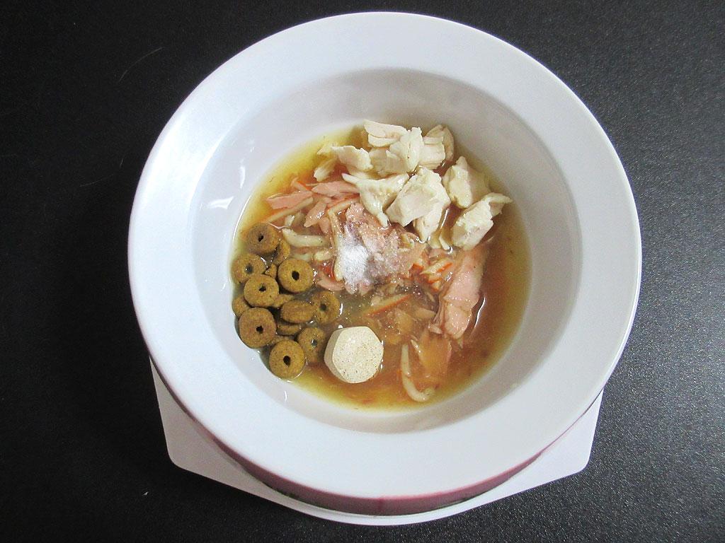 ロシ子の特別晩ご飯。