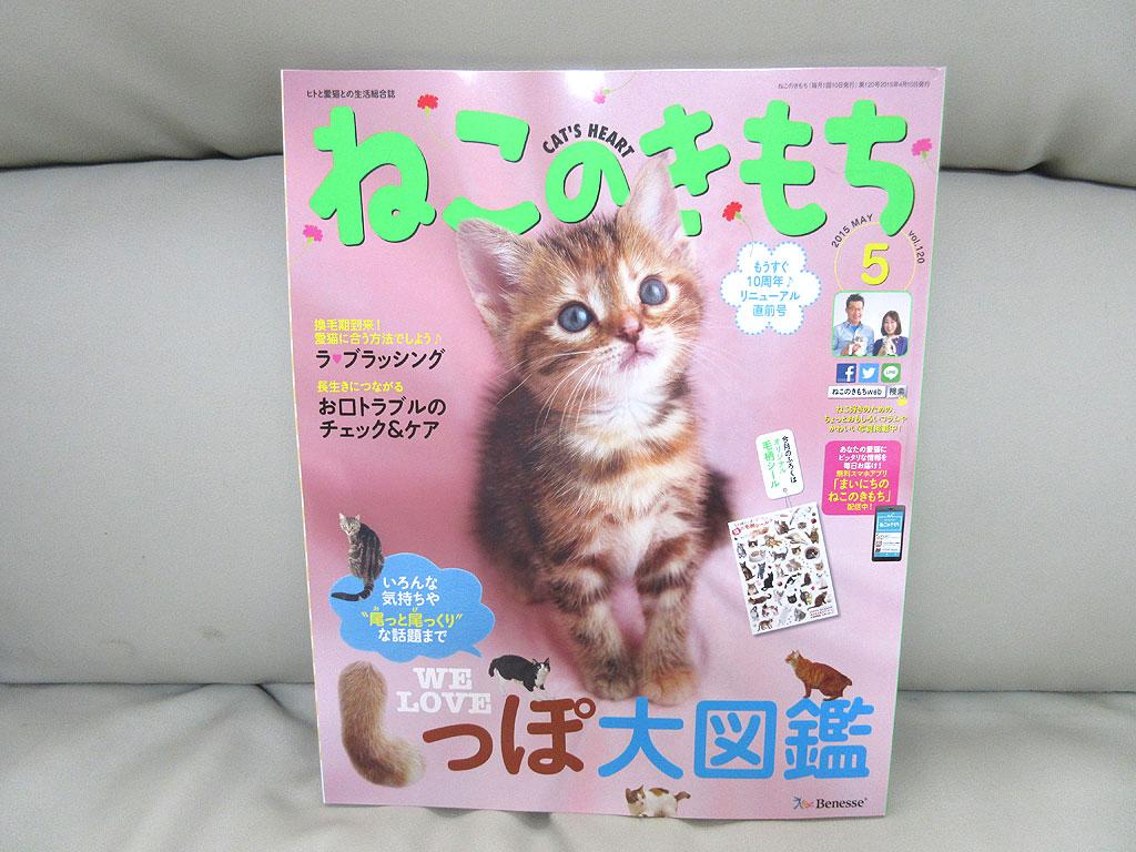 雑誌「ねこのきもち」の5月号本体。