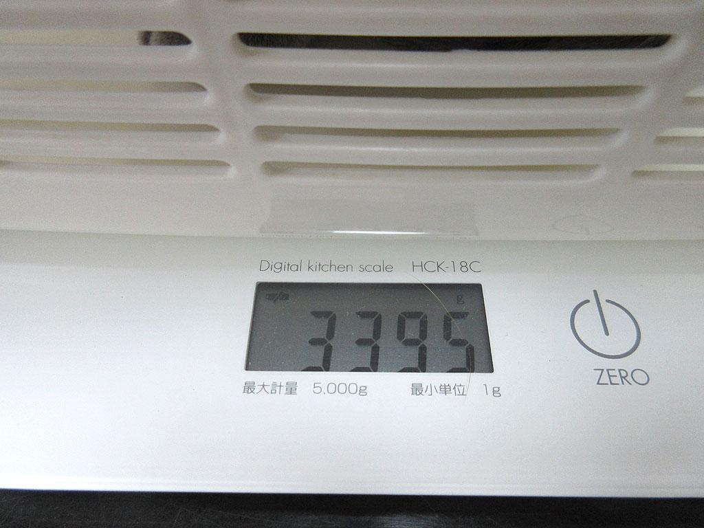 ロシ子の体重は3,395gでした。