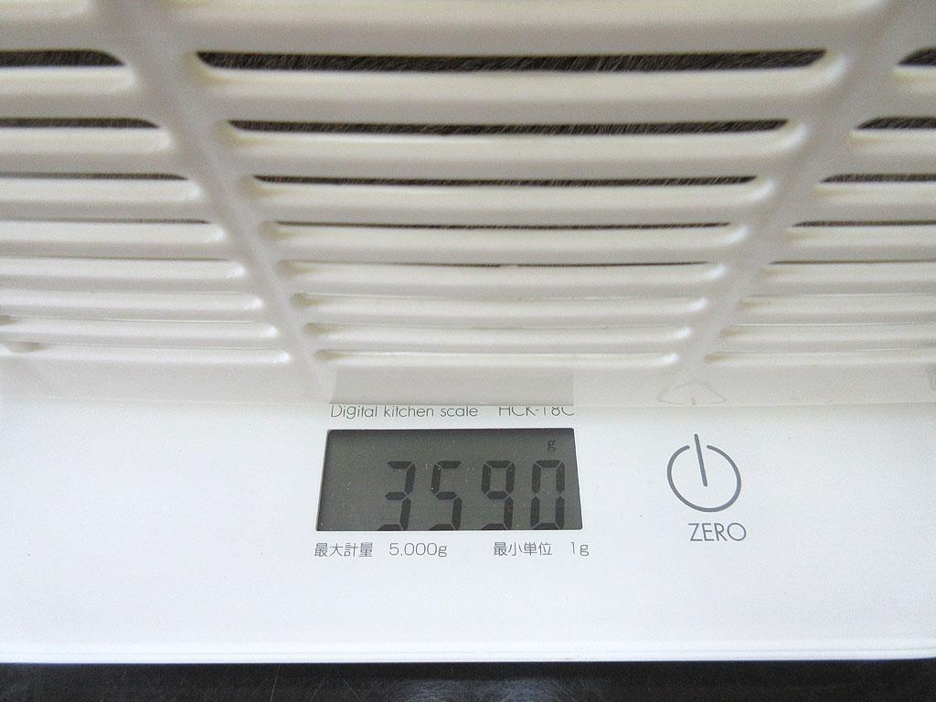 ロシ子の体重は3,590gでした。