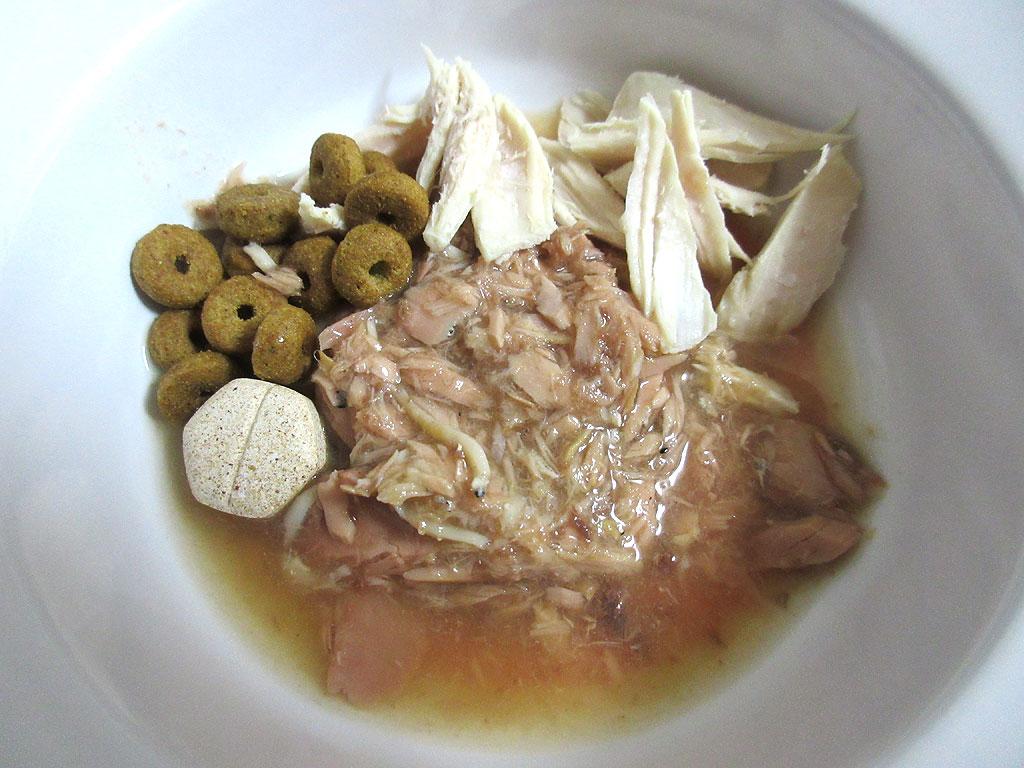 ロシ子のスペシャルご飯が完成。