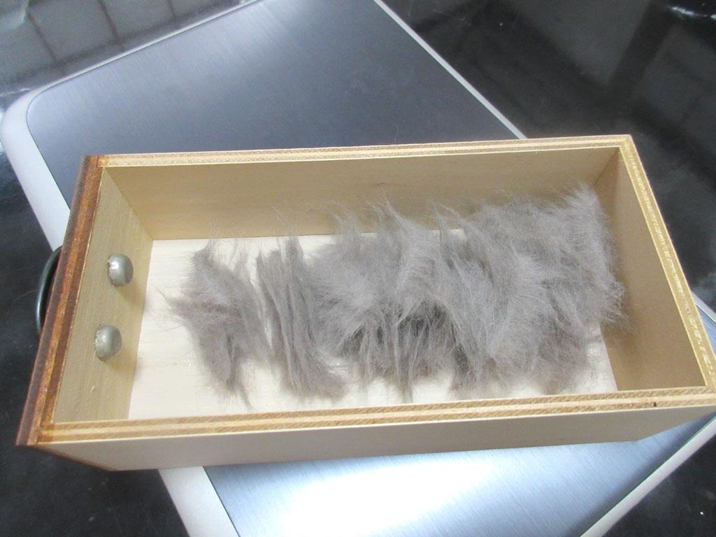 そろそろ猫毛フェルトを作ります。