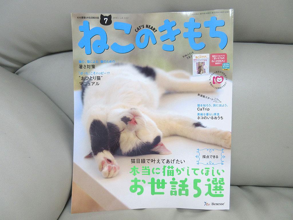 「ねこのきもち」の雑誌。