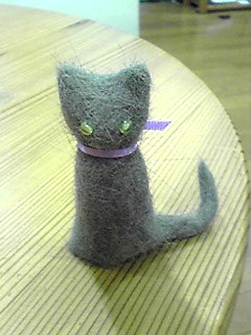 ロシママさんの猫毛人形。