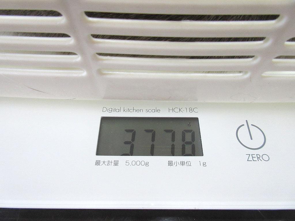 ロシ子の体重は3,778gでした。